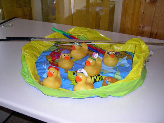 Pêche aux canards piscine