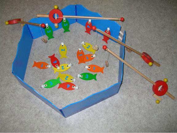Pêche magnétique en bois